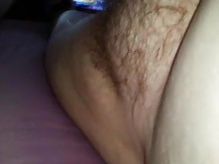 He turned my asshole inside out - My wife with hairy pussy turns her hairy asshole to me