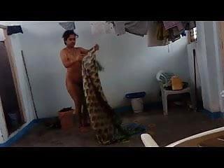 Indian aunt caught dressing