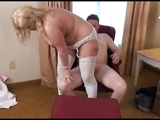 Guy fucks a blonde as his wife watches