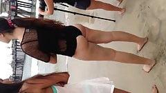 Nice Latina booty on beach