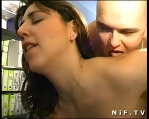 French brunette in stockings gets anal fucked