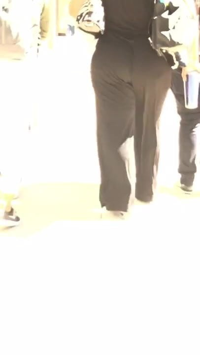 Bbw pawg in black dress pants