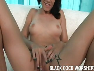 His big black cock feels so good inside me
