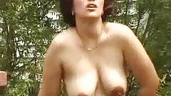 Horny pregnant babe fucked outdoor