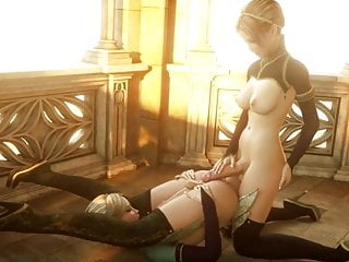Two Elven Hermaphrodite Babes Fuck