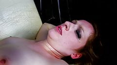 Redhead girl gets sex in the ass and pussy