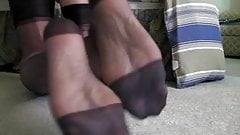 Dark RHT stocking feet...soles too!!!