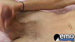 Emo guy Brandon White jerks of his cock in front of camera