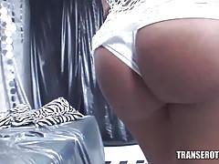 Trans Erotica - Shemale interracial threesome