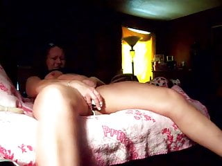 Chubby Redhead MILF gets off with rabbit toy
