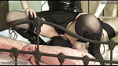 Japanese Femdom Facesitting and Fingering Slave Ass