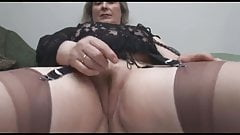 X bbw granny black pantyhose upskirt agree