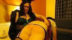 Transvestite Schoolgirl Gets OTK Spanking Off Miss