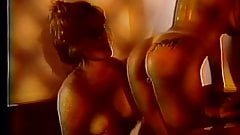 Naked lesbians play with each other in tub