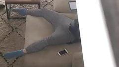 Hidden mast on couch