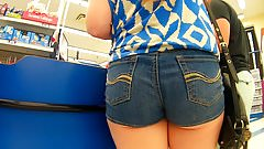 Sneak a peak cheeks jean shorts
