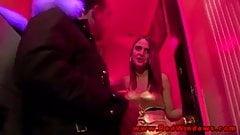 Euro prostitute gobbles a sex tourists cock
