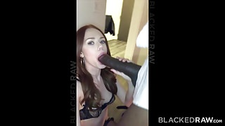 BLACKEDRAW Euro Girl Finally Gets To Try Out Mandingo's Thumb
