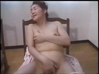 Japanese slut mom gangbang by sons cock.