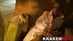 Daniela evans in a BDSM submision video for Krakenhot