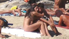 naked brunette long hair sunbathing pussy ass