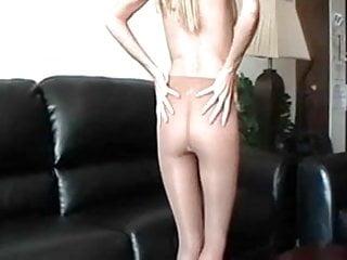 Lana's Shiny Silky Sexy Sweaty Shimmering Hose!