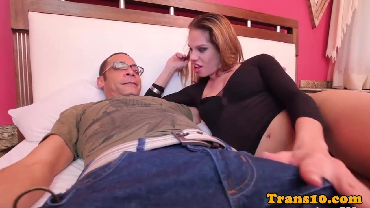 image Latina tgirl asspounded by lucky dude