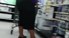 Mature big booty at Walmart