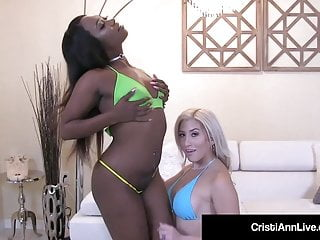 Bubble Butt Cristi Ann & Hot Black Skyler Nicole Lick Twat!