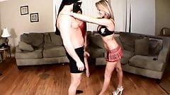 Ballbusting - Teen School Girls Kick & Knee Balls