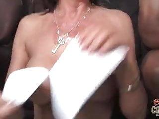 Dirty white mom takes 2 big black cocks