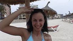 Beach slut Jessica in Arenal Mallorca