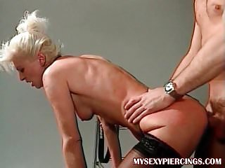 My Sexy Piercings French mature with pussy rings anal sex