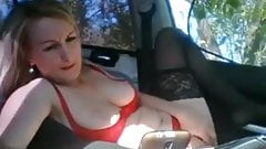 Romanian in her car