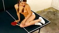 Topanga plays ping pong