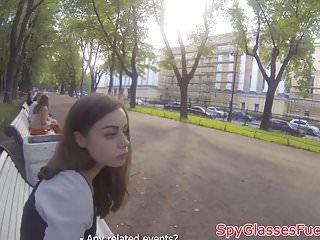 Pulled euro babe banged on spycam
