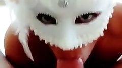 Masked Latina GF Sucks Cock Like A Pornstar