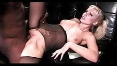 Charming Cock in her pantyhose congratulate