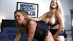 Trisha Uptown Takes It from Vicky Vette With Strap On!