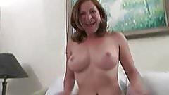 Busty Ginger on hot masturbation