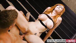 DigitalPlayground - Staircase Hookup Lauren Phillips and Mar