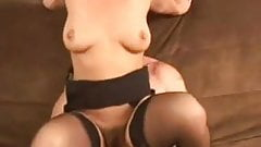 Mom with hairy cunt in stockings