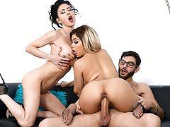 Jessica Jaymes & Aaliyah Hadid fucking a big dick, big booty