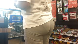 Mature MILF Ass VPL (Checkout Line)