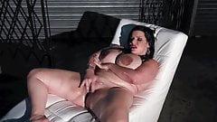 A chubby with beautiful feet masturbates