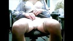 Skirt play to Orgasm