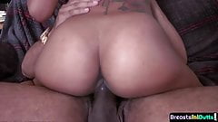 Bigbooty ebony tittyfucked and pounded