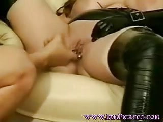 Amateur wife rings piercing labia something also