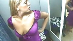 Blonde caught on changing room