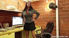 Milf Brunette Jerks Off Her Boyfriend